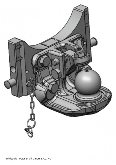 Scharmüller Kugelkupplung K80  311 mm