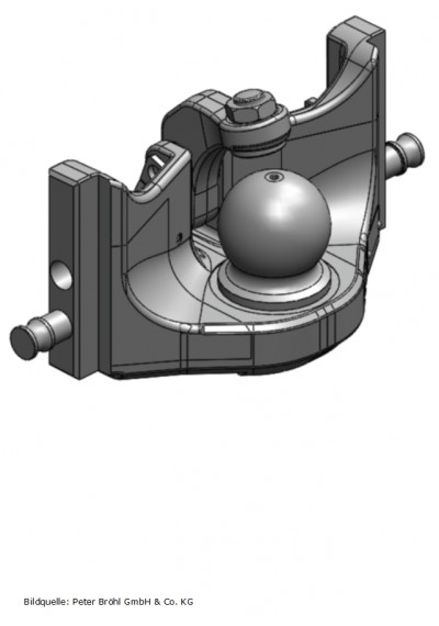 Scharmüller Kugelkupplung K80  309 mm manuell