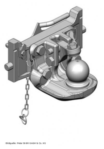 Scharmüller Kugelkupplung K80  330 mm schwarz