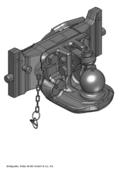 Scharmüller Kugelkupplung K80  390 mm AGCO-Grau