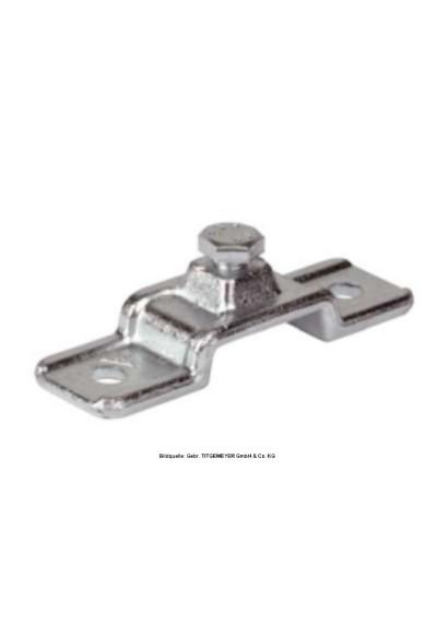 Rungenhalter mit Feststellschraube M 10 x 35 verzinkt / Bordwanderhöhung