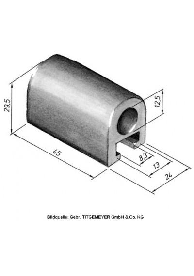 Bordwandscharnier Scharnierlager, Scharnierbock Aluminium