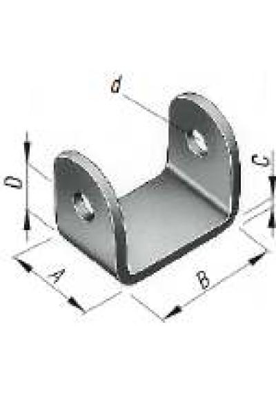 Bordwandwandscharnier / Scharnierbock 56 x 30 mm