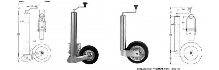 Stützräder / Stützen / Stützradhalter